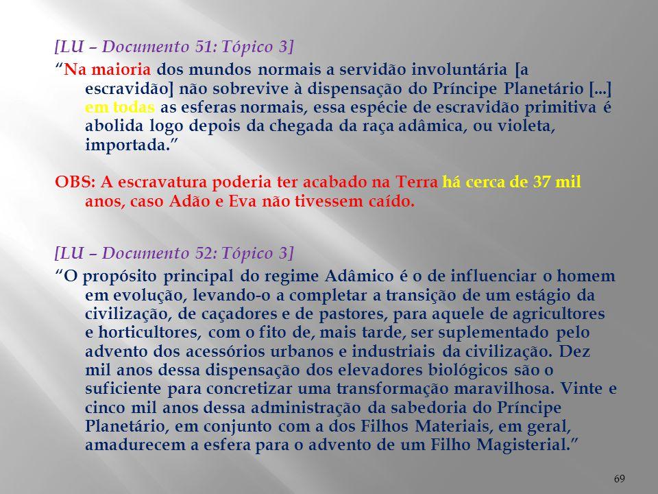 [LU – Documento 51: Tópico 3]